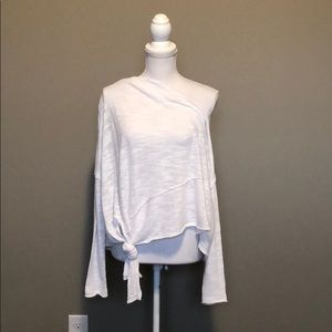 Slouchy Tied Free People Shirt